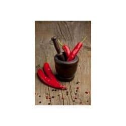 Κόκκινες πιπεριές τσίλι καυτερές